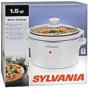 BNIB Sylvania 1.5qt electric slow cooker crockpot Back to school