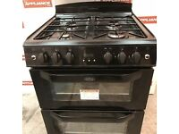 60cm belling double oven gas cooker #7185