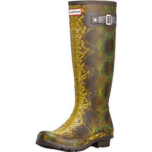 HUNTER Rain Boots - SNAKE PRINT (Carnaby Snake Welly Boot)