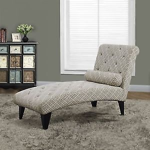 Fabric Chaise Lounge with Accent Pillow (New)$225