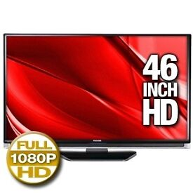 "Toshiba Regza 46"" LCD Tv + Toshiba Video + Alba Dvd Player + Sony Playstation 2. HDMI USB PC GAMING"