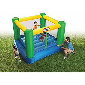 Renting out a bouncy castle