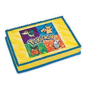 Pokemon Edible Cake Image Ebay
