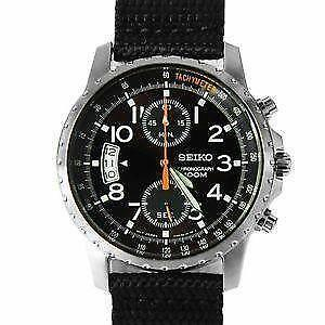 men s seiko chronograph watches new used men s leather 100 mm chronograph watches