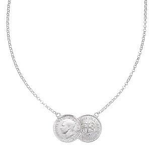 Double Lucky Thrupenny Coin Necklace