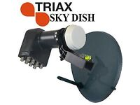Sky dish with OCTO LNB with 8 outputs