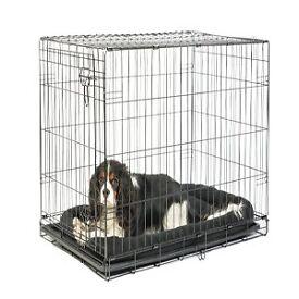 Medium dog crate - black