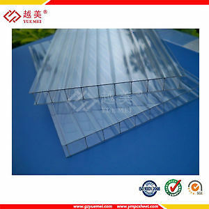 Twinwall 6 and 8 mm polycarbonate panels with UV protection