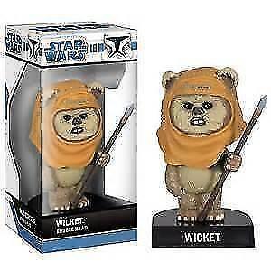 star wars wicket ewok funko wacky wobblers bobble head rare