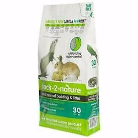 BEDDING FOR RABBIT / GUINEA PIG - Back 2 Nature Small Animal Bedding and Litter 30 Litre x 2