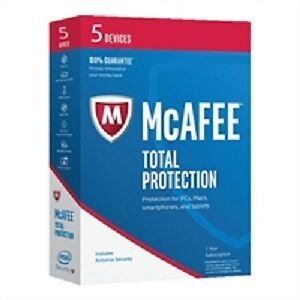 McAfee 2017 Total Protection 5 Devices - BOX (SEALED)