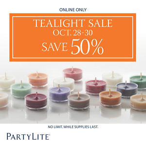 Partylite Tealights Half Price On Line Only Oct. 28-30 No Limit Prince George British Columbia image 2