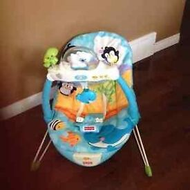 fisher price music vibrate baby bouncer