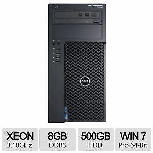 T1700 Dell Precision Xeon E3-1220 3.1 ghz 8GB RAM 500GB HD