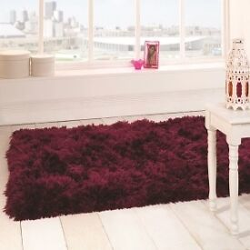 new 160cm x 230cm sumptuous plum rug