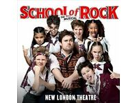 School of Rock the Musical - 1 theatre ticket for sale - 6 March 2017