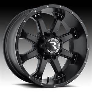 For Sale: 18x9 0 offset Black Raceline Assaults 8x6.5 brand new