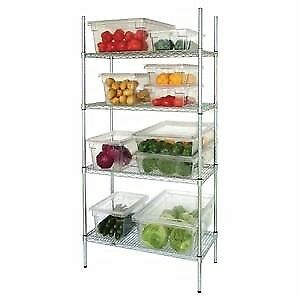 4 Tier Wire Shelving Kit 915x 457mm (oct)