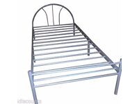 4x exeter single metal bed silver brand new