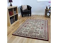 Wine red large,patchwork rug