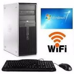 Dual Core HP 250gb Hard 8gig Ram Windows 7 Wi-Fi Computer with free Keyboard & Mouse $120 Only