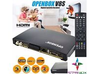 ☆O P E N B O X V 8 S☆HD TV SAT RECEIVER - £30 COLLECTION ONLY