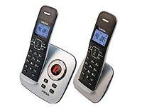 TalkTalk TT3023 Twin DECT Phone with Answer Machine - Silver