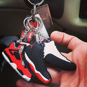 Jordan Shoes 2D Silicone Keychains