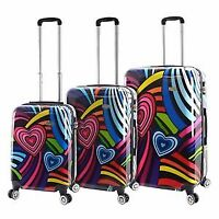 Mia Viaggi Pop Love 3 Piece Hardside Spinner Upright Luggage Set