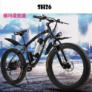 "Weekly Promotion!   26"" Aluminum alloy fat tire  eBike, SH26, Green, $1250"
