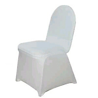 Spandex chair covers for rent.