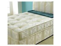 """**100% GUARANTEED PRICE!**BRAND NEW Double Bed With 12""""Thick Extra Firm Crown Orthopaedic Mattress"""