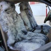 Sheepskin Seat Cover Grey