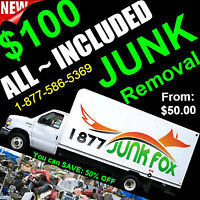 YES ! We are open: junk removal, spring cleaning = 1877 586 5369