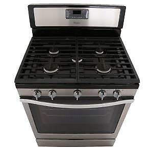 "Whirlpool 30"" Convection Gas Stove / Oven - Stainless Steel"