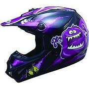 Purple Dirt Bike Helmet