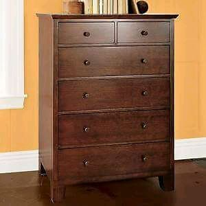 Looking for EUC  dark/cherry wood tall boy dresser Peterborough Peterborough Area image 1