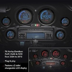 KOSO Digital Gauge Kit for Harley Davidson 04-13 (black) London Ontario image 1