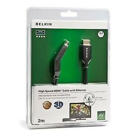 Belkin 2M High Speed HDMI Cable With Ethernet (180 Swivel Head)
