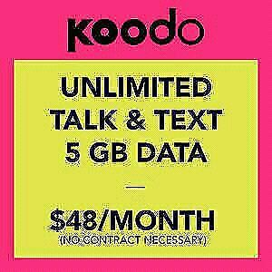 $48 Koodo cell phone plan