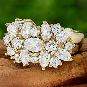 reduced      GOLD FILLED WHITE SAPPHIRE RING REG/ 48.00