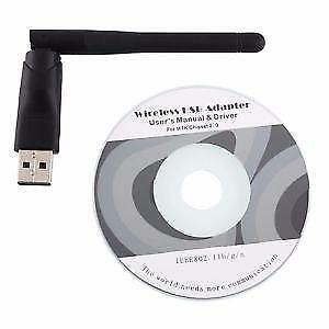 Wireless WiFi USB Dongle Stick Adapter 802.11b/g/n 150Mbps Antenna IPTV / OTT Box