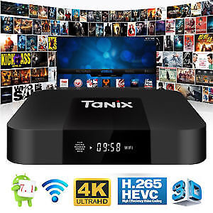 TX3 Mini with digital clock Quad Core Android TV Box Android 7.1