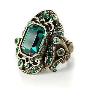 lanzyo wedding silver women for fine gift ring item rings sterling emrald emerald jewelry