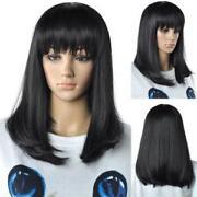 Medium Black Cosplay Wig
