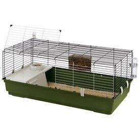 Ferplast Rabbit 120 Guinea Pig and Dwarf Rabbit Cage plus pet transporter, toys and extras