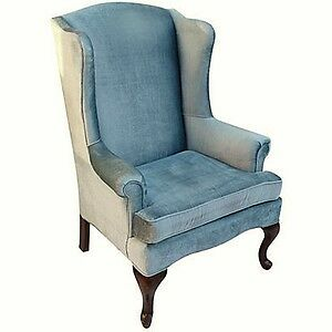 Accent Chair-Blue Velvet *Reduced Price*