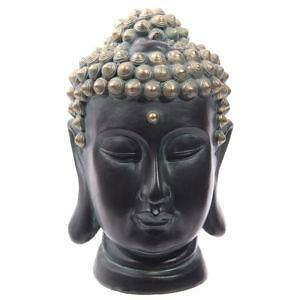 buddha kopf stein dekoration ebay. Black Bedroom Furniture Sets. Home Design Ideas