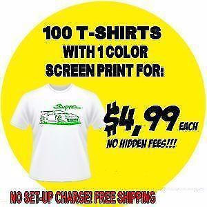Wholesale Custom T-shirts - 24 Shirt Minimum - 4.99$ to 6.99$ per shirt