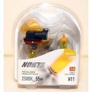 Nokya-Headlight-Set-2-Nok7618-Bulb-Hyper-Yellow-Fog-Headlight-H11-55w-7618